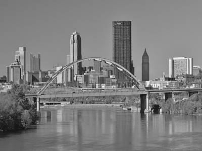The Birmingham Bridge In Pittsburgh Print by Digital Photographic Arts