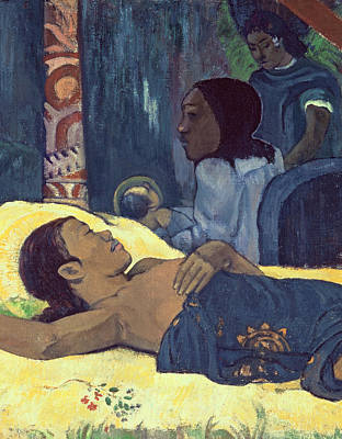 Bed Painting - The Birth Of Christ by Paul Gauguin