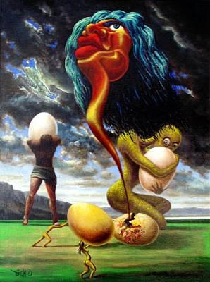 Genio Painting - The Birth Of Mick Jagger's Image by Genio GgXpress