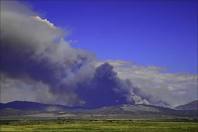 Brush Photograph - The Bison Fire Burning In Northern Nevada Near Carson City. 7-6- by LeeAnn McLaneGoetz McLaneGoetzStudioLLCcom