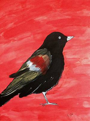 Cuckoo Painting - The Black Bird by Gurkirat Gill