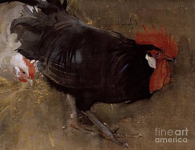 The Black Cock Print by Joseph Crawhall