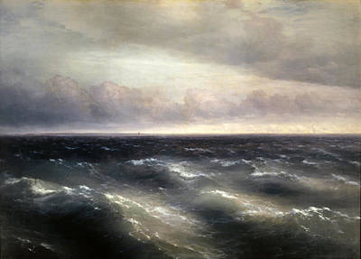 Aivazovsky Painting - The Black Sea by Ivan Konstantinovich Aivazovsky