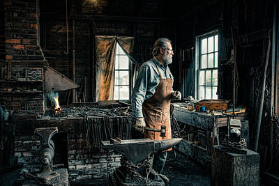 The Blacksmith - Smith Print by Gary Heller