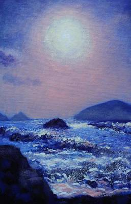 Perspective Painting - The Blasket Islands by John  Nolan