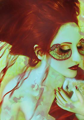 Dreamscape Mixed Media - The Bleeding Dream - Self Portrait by Jaeda DeWalt