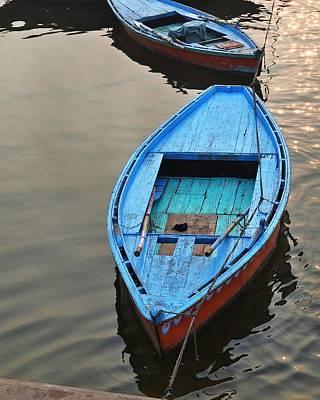 The Blue Boat Print by Kim Bemis