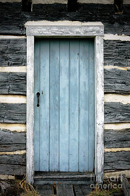 Rustic Photograph - The Blue Door by Erin Johnson