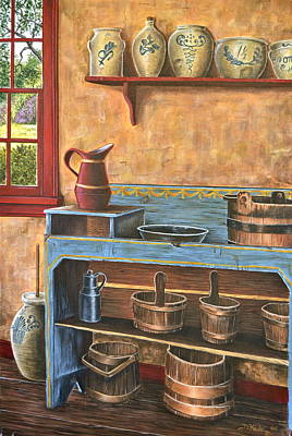 The Blue Dry Sink Print by Dave Hasler