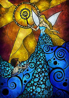 The Blue Fairy Print by Mandie Manzano