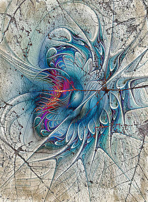 The Blue Mirage Print by Deborah Benoit