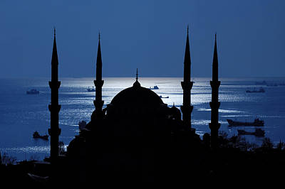 The Blue Mosque Print by Ayhan Altun