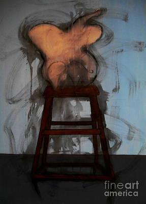 Morph Painting - The Blue Room I - The Moth by Filip D Jensen