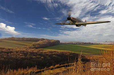 The Blue Skies Of Britain. Print by Pete Reynolds