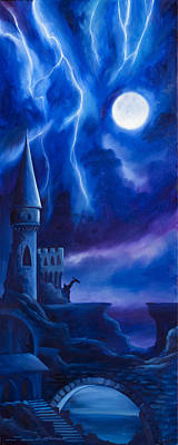 The Blue Tower Original by James Christopher Hill