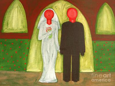 The Blushing Bride And Groom Print by Patrick J Murphy