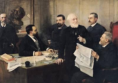 The Board Of Directors Of La Republique Francaise, 1890 Oil On Canvas Print by Henri Gervex