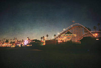 Roller Coaster Photograph - The Boardwalk by Laurie Search