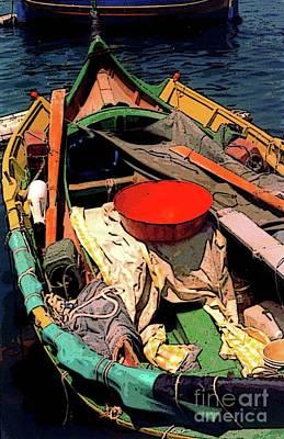 Maltese Photograph - The Boat by Elizabeth Hoskinson