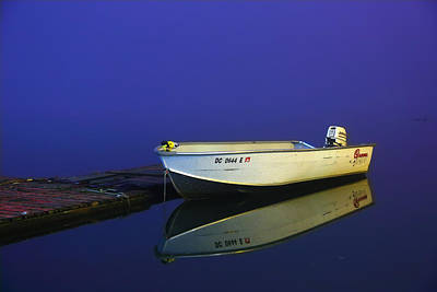 Reflection Photograph - The Boat In The Fog by Metro DC Photography