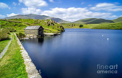 The Boathouse Print by Adrian Evans