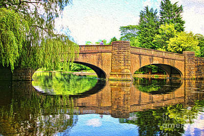The Boating Lake At Thompson Park Burnley Print by Peter McHallam