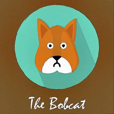 Bobcats Painting - The Bobcat Cute Portrait by Florian Rodarte