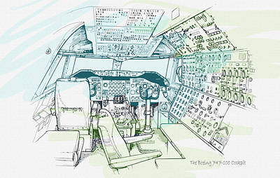 The Boeing 747-100 Cockpit Original by Don Kuing