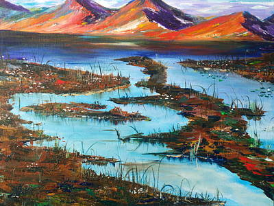 Fens Painting - The Bog by Conor Murphy