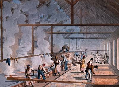 Factory Drawing - The Boiling House, From Ten Views by William Clark