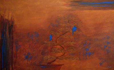 Bonsai Painting - Bonsai Tree Painting by Ken Figurski
