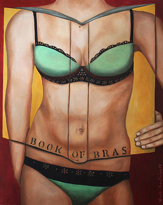 The Book Of Bras Original by Leah Saulnier The Painting Maniac