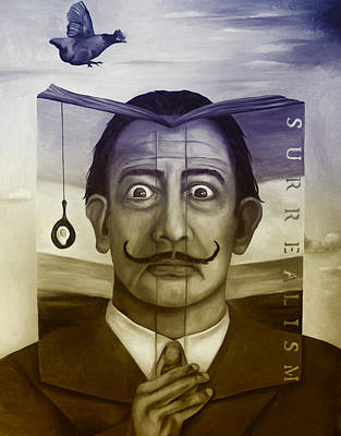 The Book Of Surrealism Edit 4 Print by Leah Saulnier The Painting Maniac