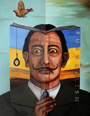 The Book Of Surrealism Edit 5 Print by Leah Saulnier The Painting Maniac