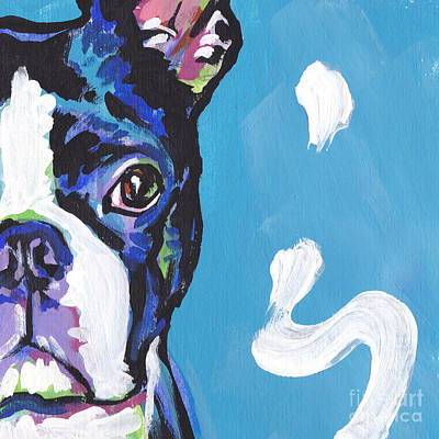 Boston Terrier Painting - The Boss by Lea S