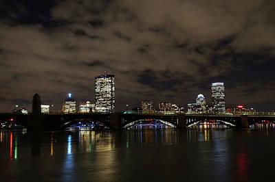 The Boston Skyline Through The Longfellow Brigde Print by Toby McGuire