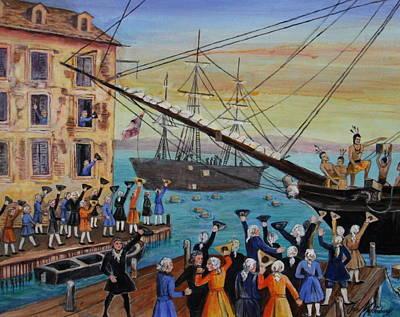The Boston Tea Party  Original by Jan Mecklenburg