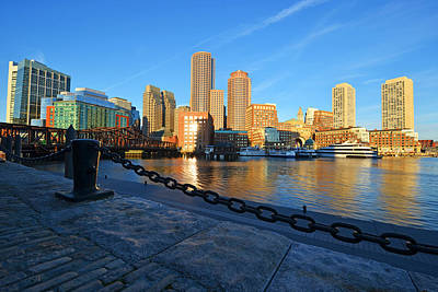 The Boston Waterfront In Morning Light Print by Toby McGuire