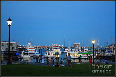 The Boston Wharf In The Early Evening Print by Dora Sofia Caputo Photographic Art and Design