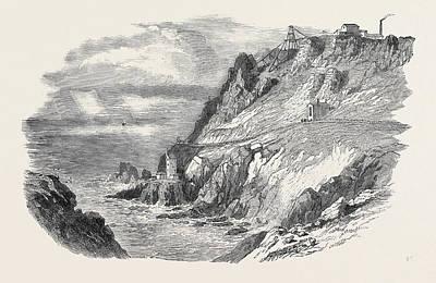 The Botallack Mine Cornwall Print by English School
