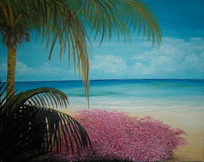 Bougainvilla Painting - The Bouganvilla by Delia Birnhak Swenson