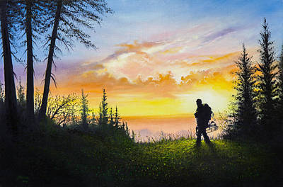 Bob Ross Painting - The Bowhunter by C Steele