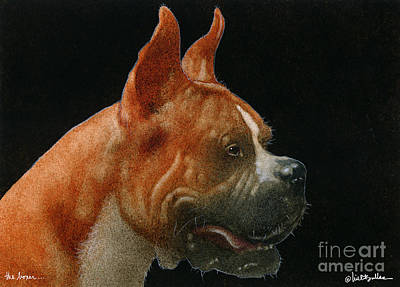 Boxer Painting - The Boxer... by Will Bullas