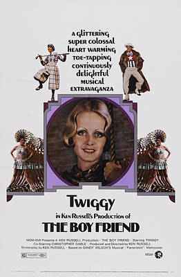 Twiggy Photograph - The Boy Friend, Us Poster Art, Twiggy by Everett