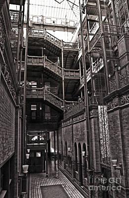 The Bradbury Building Print by Gregory Dyer