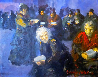 Bread Line Photograph - The Bread Line by George Benjamin Luks