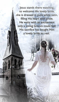 The Bride Of Christ Print by Kathy Clark