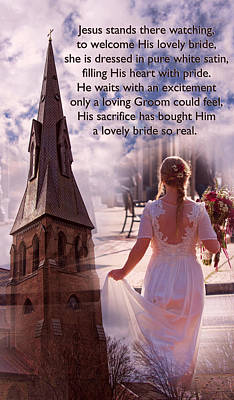 The Bride Of Christ Poem By Kathy Clark Print by Kathy Clark