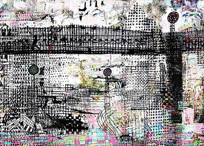 Graffiti Drawing - The Bridge II by Andy  Mercer
