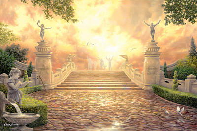 Garden Of Eden Painting - The Bridge Of Triumph by Chuck Pinson
